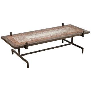 Customizable Paul Marra Brutalist Cocktail Table For Sale
