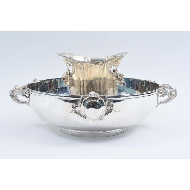 Large English Sheffield Silver Plated Champagne Cooler With Ice Bucket For Sale - Image 10 of 13
