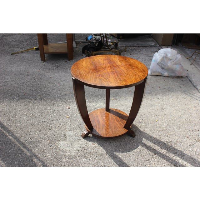Beautiful French Art Deco Coffee Table or Side Table Exotic Walnut, circa 1940s For Sale - Image 10 of 10