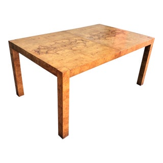 Lane Milo Baughman Burl Wood Altavista Dining Table For Sale