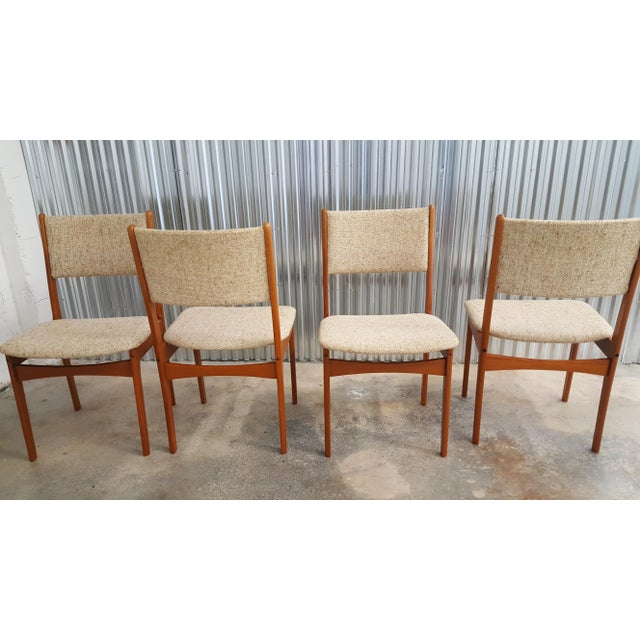 Terrific 1980S Vintage Mcm Danish Chairs Set Of 4 Download Free Architecture Designs Griteanizatbritishbridgeorg