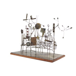 Kinetic Brutalist 'Carnival' Sculpture by David Hall-Coleman