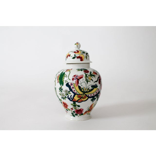 Colorful Vintage Lidded Ginger Jar For Sale - Image 9 of 10
