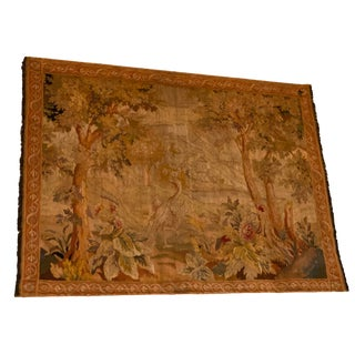 19th Century Antique French Countryside Tapestry For Sale