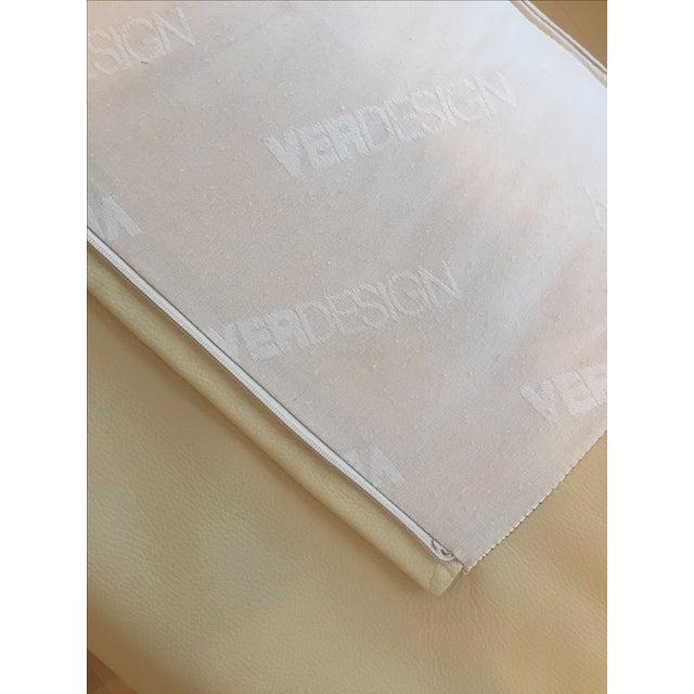 Ver Design Cream Leather Armonia Sofa - Image 5 of 7