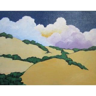 Malibu Hills California Clouds Oak Trees Landscape Lynne French For Sale