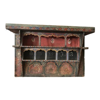Indian Decorative Wooden Hanging Display Shelf For Sale
