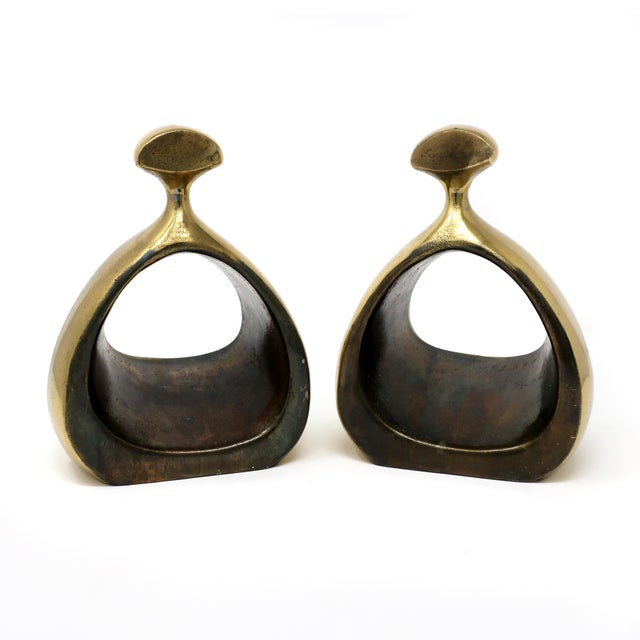 Pair of Ben Seibel Brass Bookends For Sale In New York - Image 6 of 10
