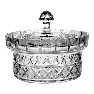 Waterford Crystal Centerpiece Bowl & Lid For Sale