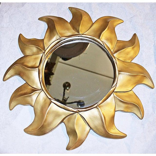 Gold Sunflower Framed Round Mirror - Image 4 of 5