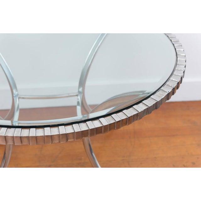 Thinline Polished Aluminum Klismos Table For Sale - Image 5 of 9