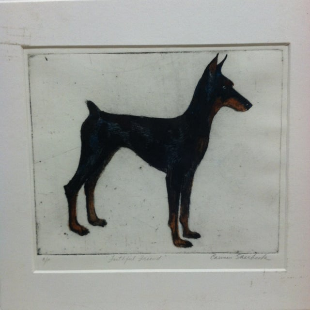 """This is a Matted Limited Edition Signed Artist Proof Of A Print that is titled """"Faithful Friend"""" done by Carmen Sherbeck...."""