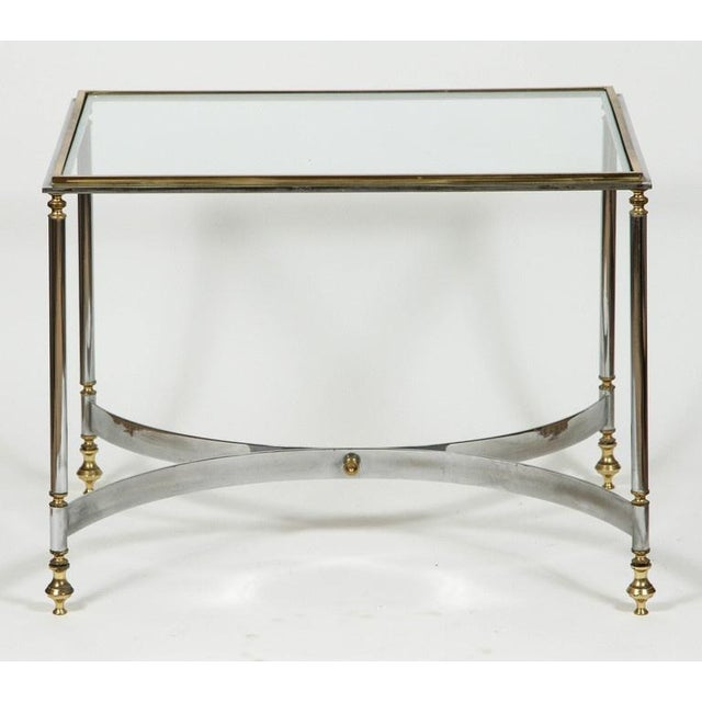Brass & Chrome Coffee Table For Sale In Los Angeles - Image 6 of 6