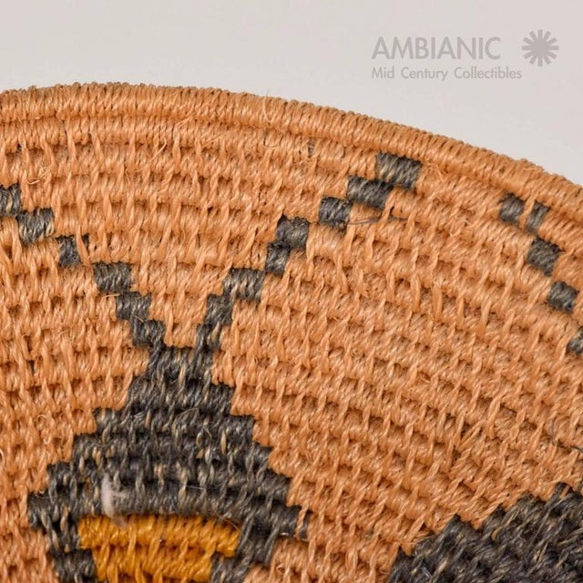 Antique Native American Basket Bowl For Sale In San Diego - Image 6 of 8