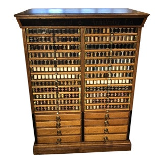 1880s Brainerd & Armstrong Co. Spool Cabinet For Sale