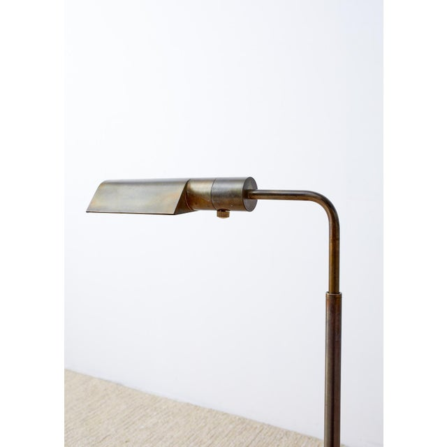Mid 20th Century Pair of Casella Brass Adjustable Pharmacy Floor Lamps For Sale - Image 5 of 13