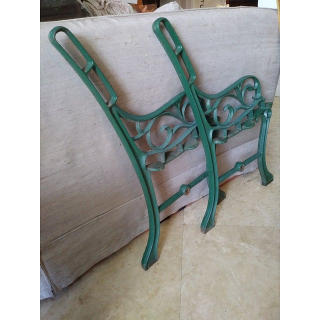 Vintage Iron Park Bench For Sale In Miami - Image 6 of 9