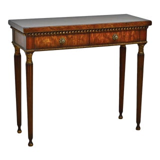 20th Century Traditional Theodore Alexander Mahogany Console Table For Sale