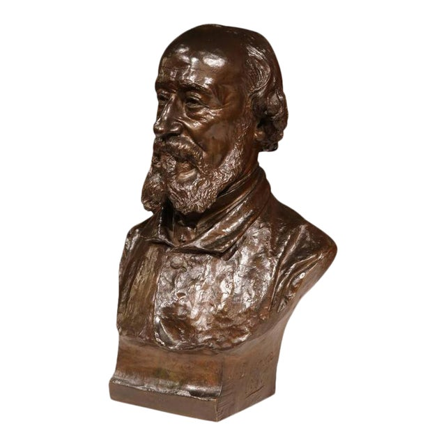 19th Century French Bronze Bust Signed by Jean-Francois Delorme For Sale