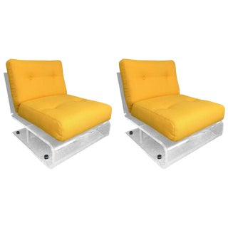 Pair of Armchairs Glassflex Lucite by Jacques Charpentier, France, 1970s For Sale
