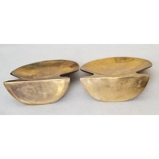 Vintage Brass Clam Shell Bookends - a Pair For Sale - Image 4 of 6