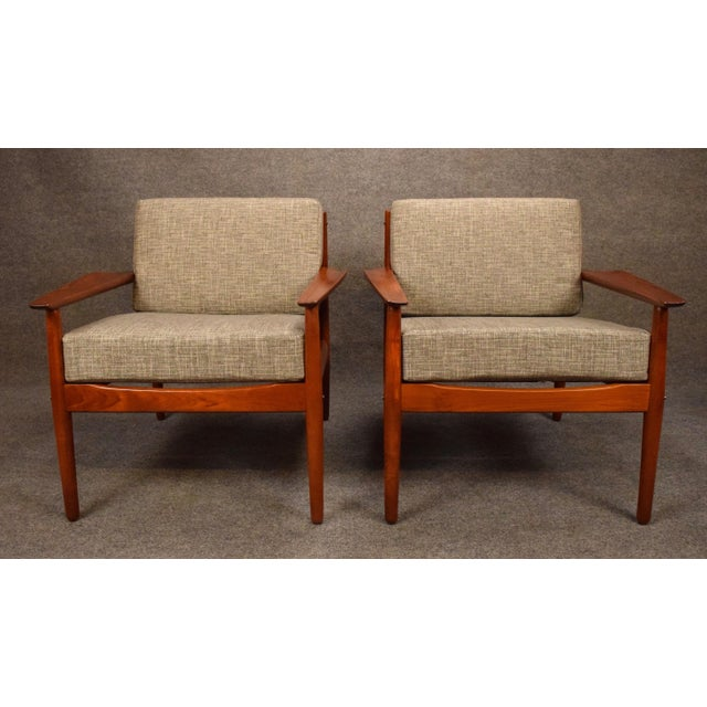 Mid-Century Modern 1960s Scandinavian Modern Arne Vodder Teak Lounge Chairs - a Pair For Sale - Image 3 of 11