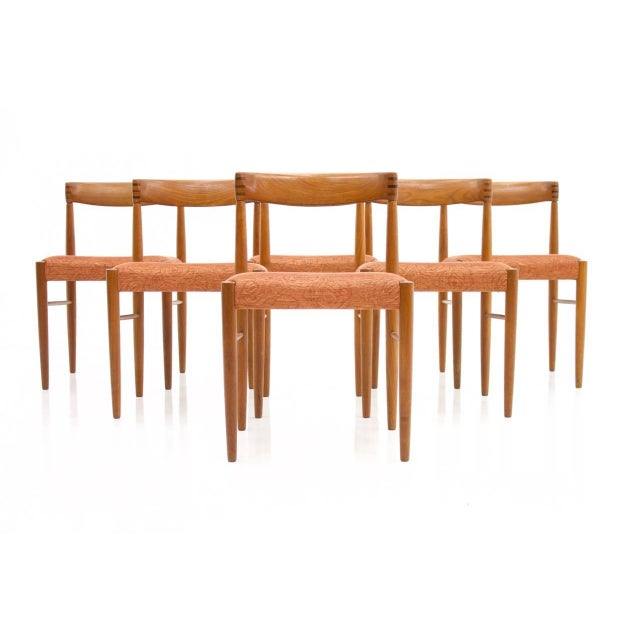 d7f618fb406f Set of Six Danish Teak Dining Chairs by H. W. Klein for Bramin 1960s For  Sale -