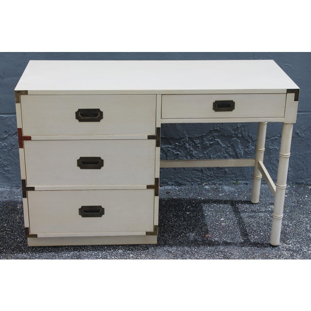 1970's Dixie Mid Century Campaign Writing Desk - Image 3 of 11