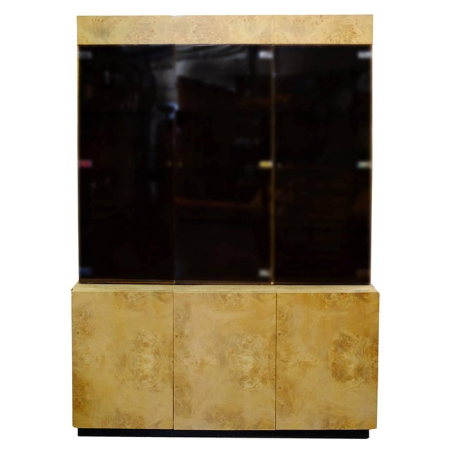 Burl Wood China Cabinet by Dillingham For Sale - Image 11 of 11