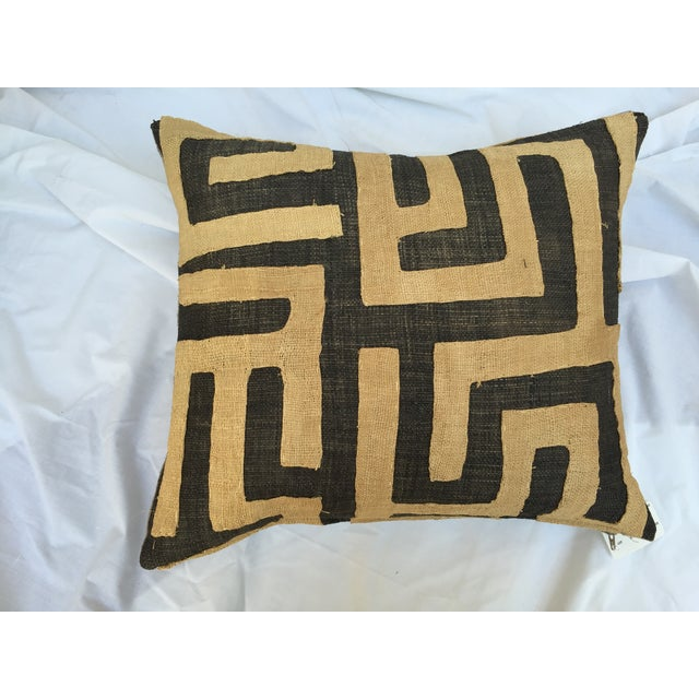 African Kuba Maze Pillows - Pair For Sale - Image 5 of 6