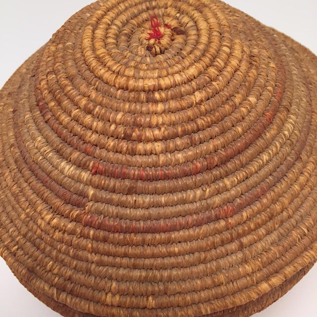 Wicker Northwest Coast Salish Lidded Coiled Basket For Sale - Image 7 of 13