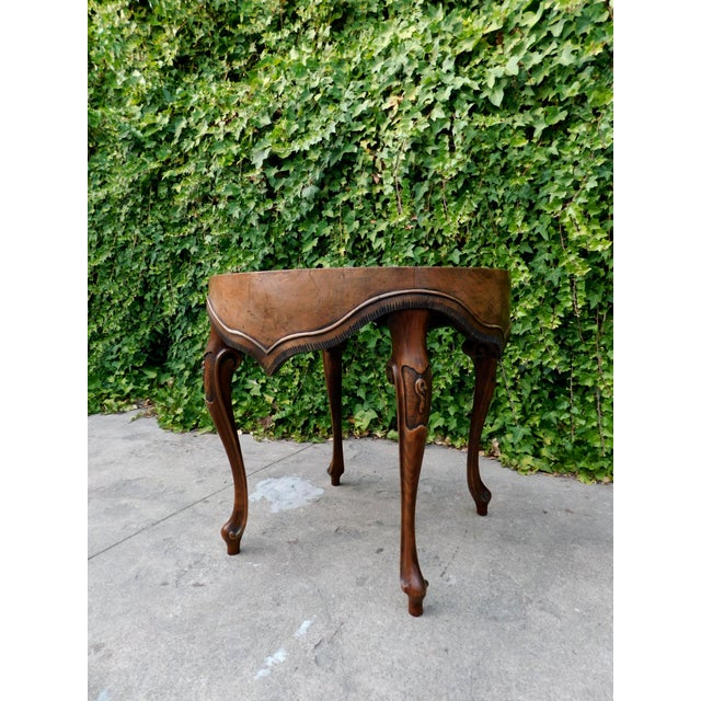 Italian Wood Side Table For Sale In San Francisco - Image 6 of 11