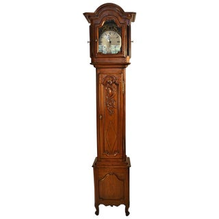 19th Century Cherry Long CaseClock For Sale