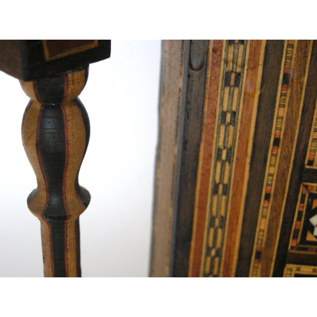 Levantine Syrian Inlay/Parquetry Bench For Sale - Image 10 of 11
