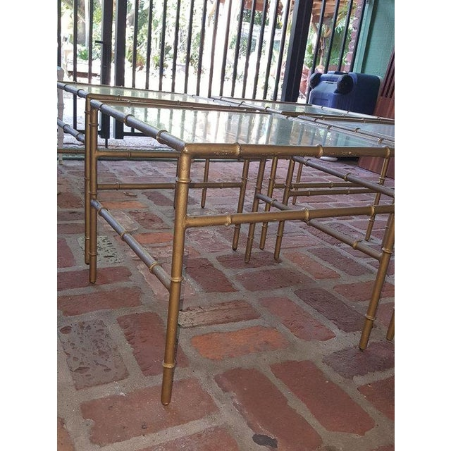 Faux Bamboo Metal Side Tables - Set of 4 - Image 5 of 5