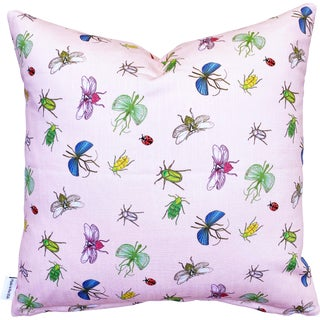 "Bugs Scallop Shell 20"" Linen Cotton Pillow For Sale"