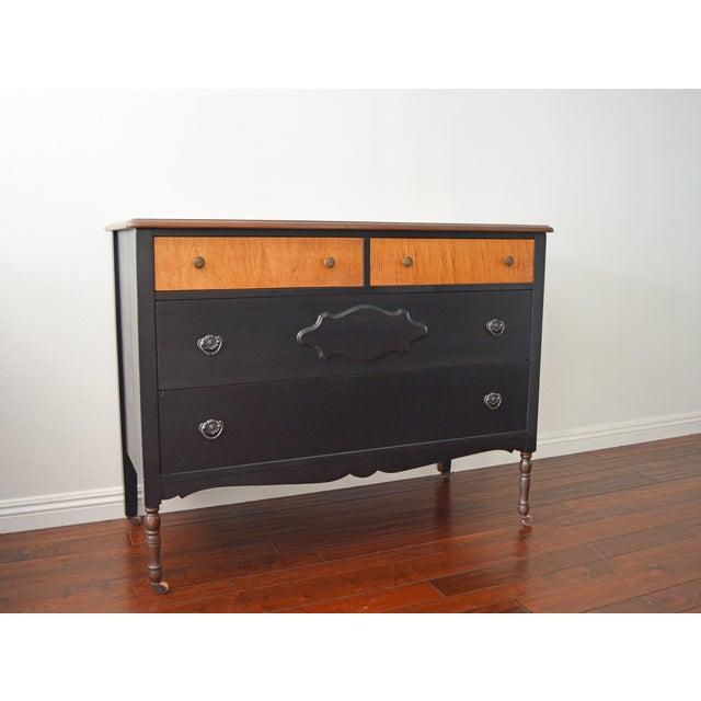 Repurposed Antique Black Dresser - Image 2 of 6