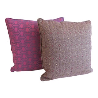 Custom Purple Pattern Pillows- a Pair For Sale
