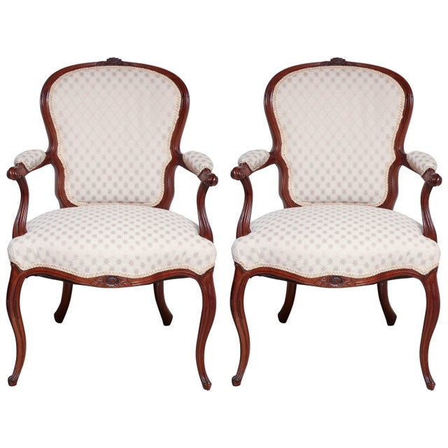 Pair of George III Carved Armchairs For Sale - Image 11 of 11