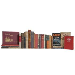 Vintage Crimson Tide Nautical Book Set, (S/25) For Sale