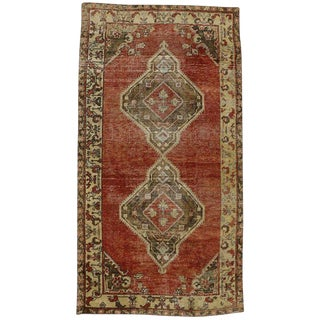 Late 20th Century Vintage Turkish Oushak Rug- 5′ × 9′3″ For Sale