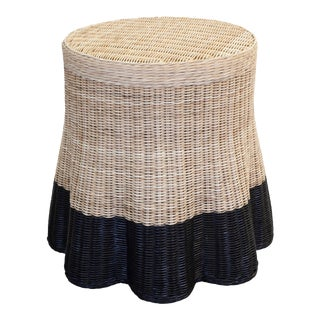 Scallop Drink Table, Black Color Block For Sale