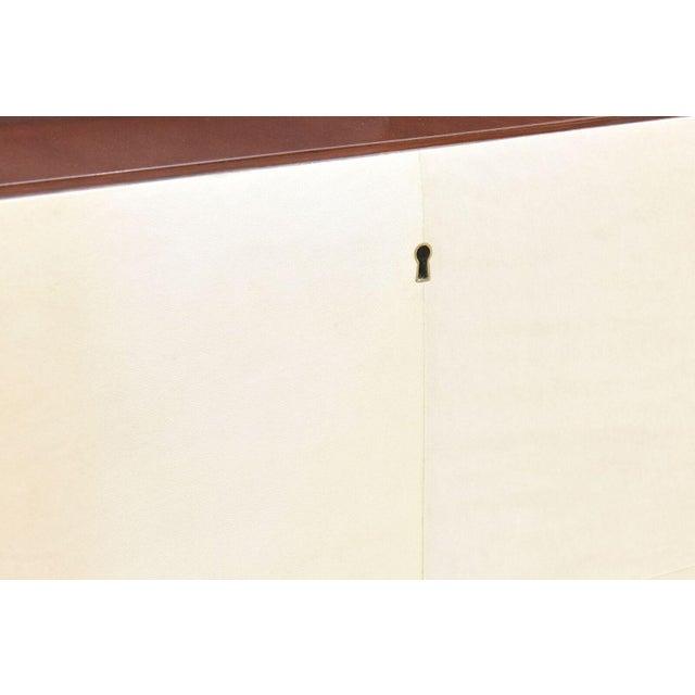 Italian Italian Modern Mahogany and Brass Bar Cabinet or Bookcase, Silvio Cavatorta For Sale - Image 3 of 10