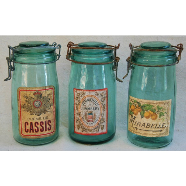 1930s French Labeled Canning Jars - Set of 3 - Image 2 of 6