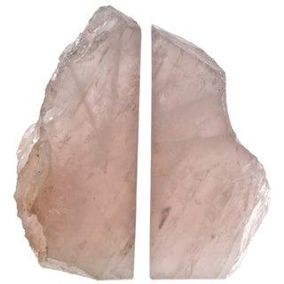 Rose Quartz Bookends - Pair For Sale