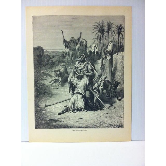 """This is Real Nice Antique Print on Paper Illustrated by Gustave Dore' that is titled """"The Prodigal Son"""". The Print was..."""
