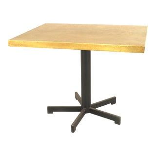 Belgian Post-War Embossed Brass End Tables For Sale