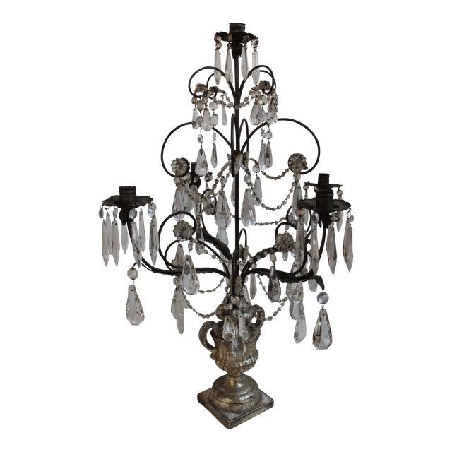 Antique Italian Five Light Candelabra For Sale