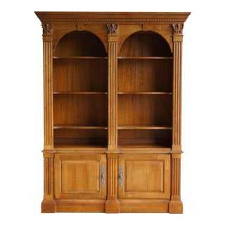 Ethan Allen Legacy Double Arch Library Bookcase Cabinet For Sale