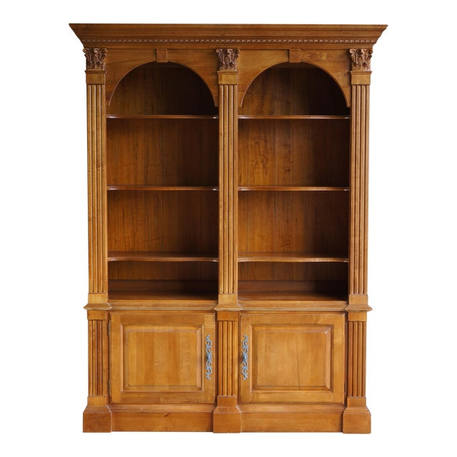 kitchen bookcase double ten bookcases oak quot h shelf finish dry amazon com dp